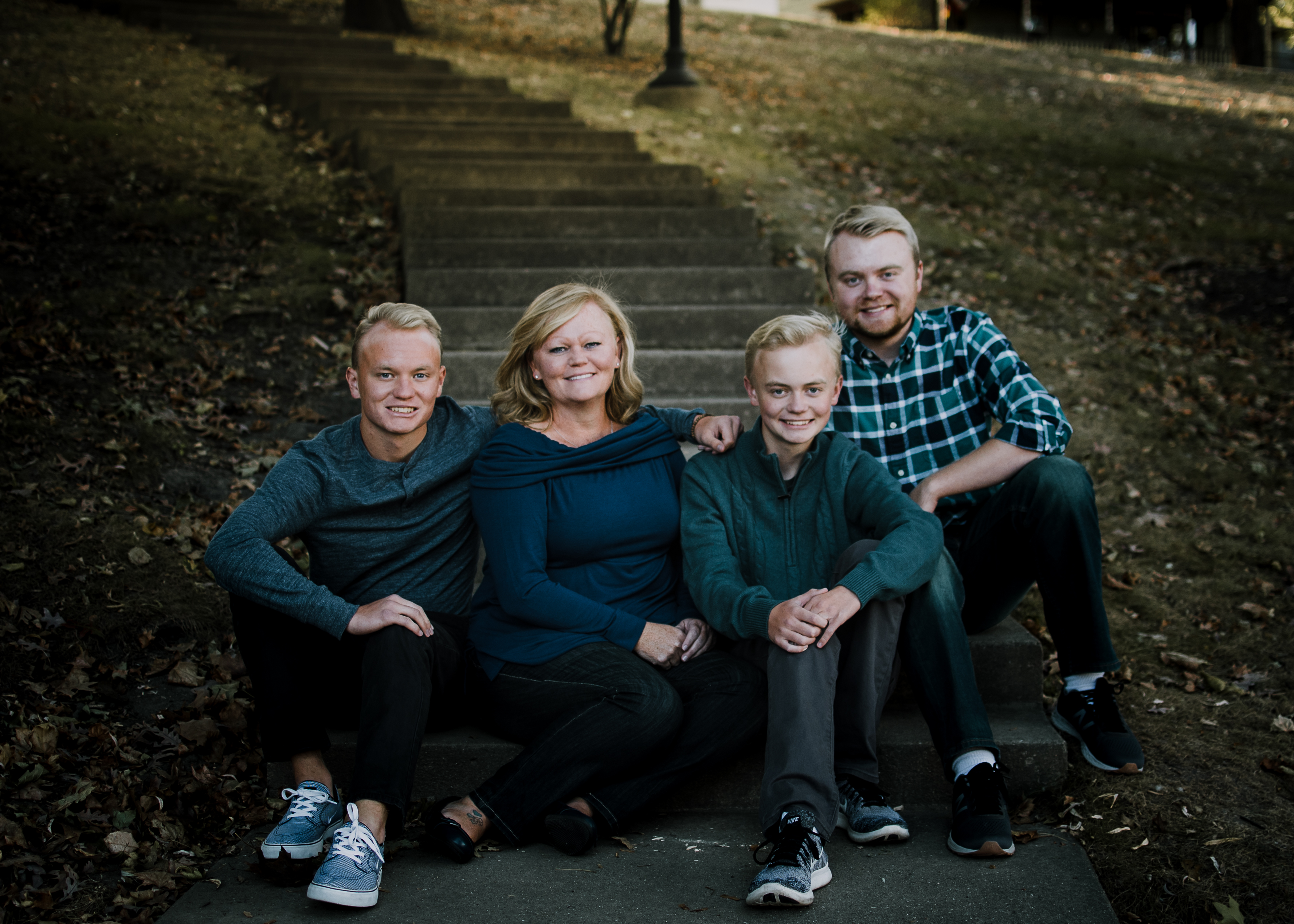 Katie Olson and her family