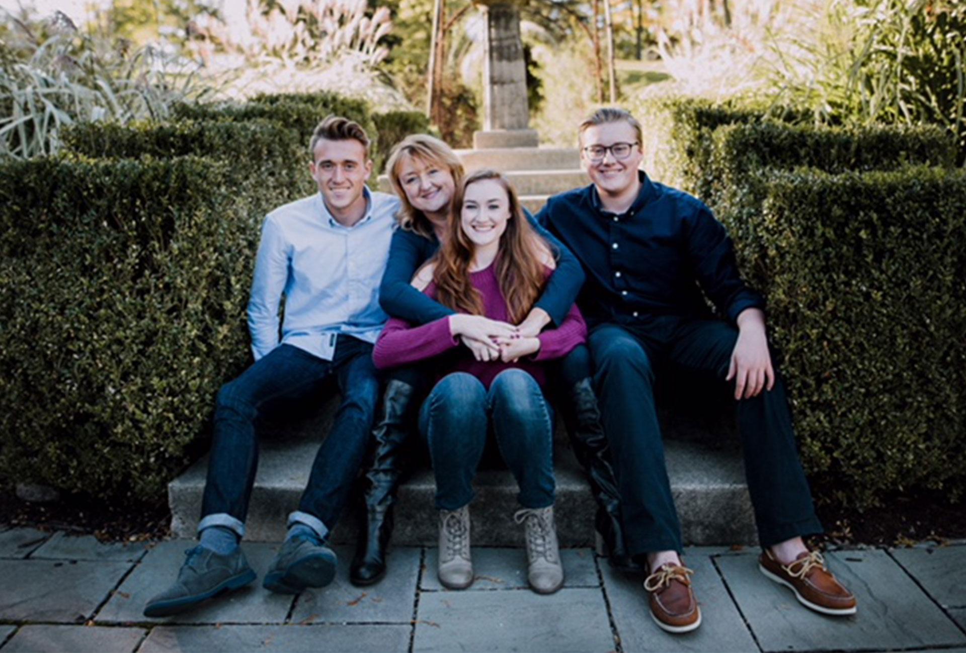 Lesley Karasinski and her family